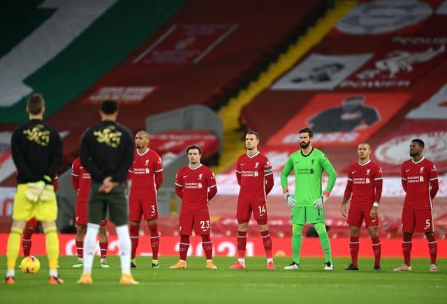Liverpool and Manchester United held a minute's silence in memory of Gerry Marsden who died on January 3