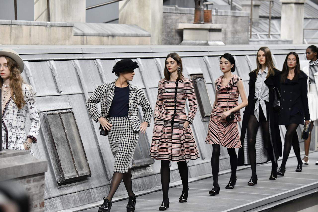"""Marie Benoliel, better known as the YouTuber Marie S'Infiltre, was not officially cast in Chanel's spring 2020 show on the final day of Paris Fashion Week. But that didn't stop her from <a href=""""https://www.wmagazine.com/story/chanel-runway-youtube-crasher-gigi-hadid-marie-sinfiltre?mbid=synd_yahoo_rss"""">leaping onto the runway</a> during the finale, as if she were meant to be there all along. Benoliel, who wore Chanel-style houndstooth tweed, fit in surprisingly well, though her star turn didn't last for long; a less-than-amused Gigi Hadid soon intervened."""