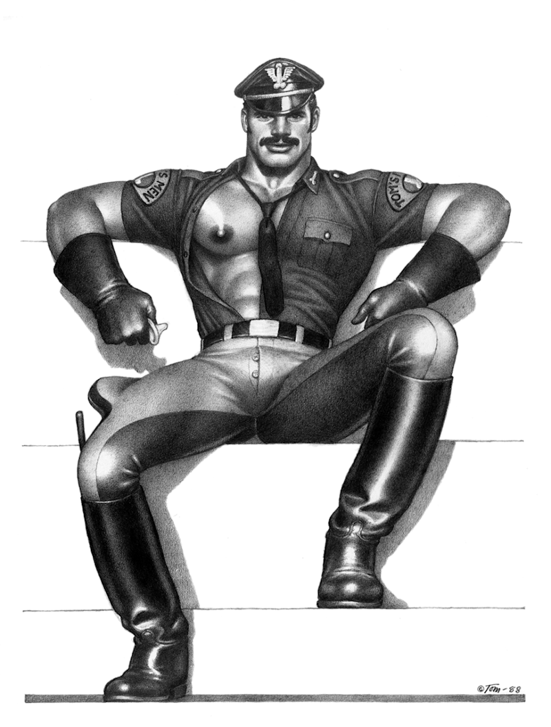Photo credit: TOM OF FINLAND, Untitled, 1988, Graphite on paper, © 1988-2020 Tom of Finland Foundation