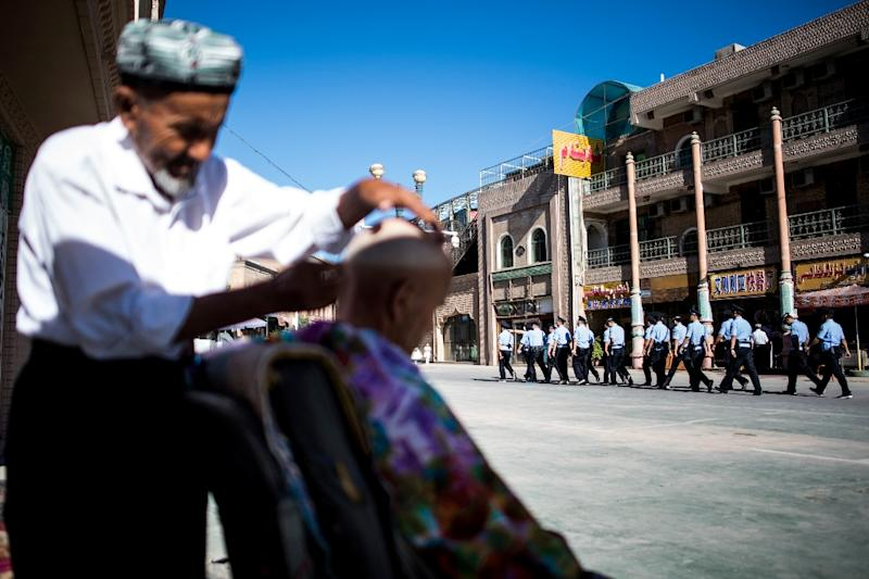 A UN panel says up to one million ethnic Uighurs may be being held in Chinese internment camps (AFP Photo/Johannes EISELE)
