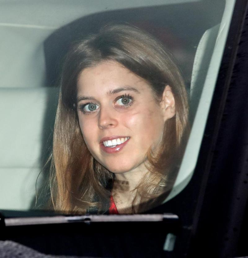 Princess Eugenie was all smiles before the family function. Photo: Getty Images