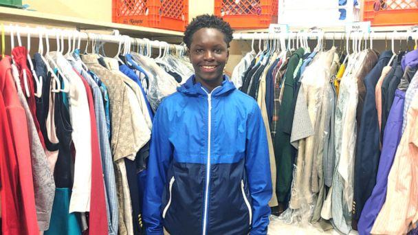 PHOTO: Chase Neyland-Square, a student at Port Allen Middle School in Port Allen, Louisiana, helps run 'PAMs pantry' -- a closet filled with clothes, hygiene products, shoes and more for kids in need. (Courtesy Jessica Major)