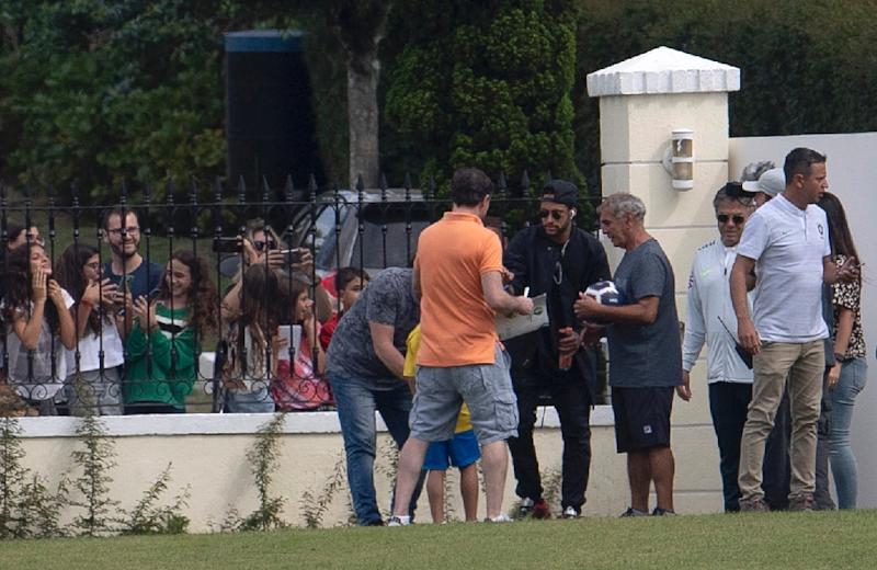 Neymar arrives at Brazil's national team training camp in Teresopolis ahead of next month's Copa America