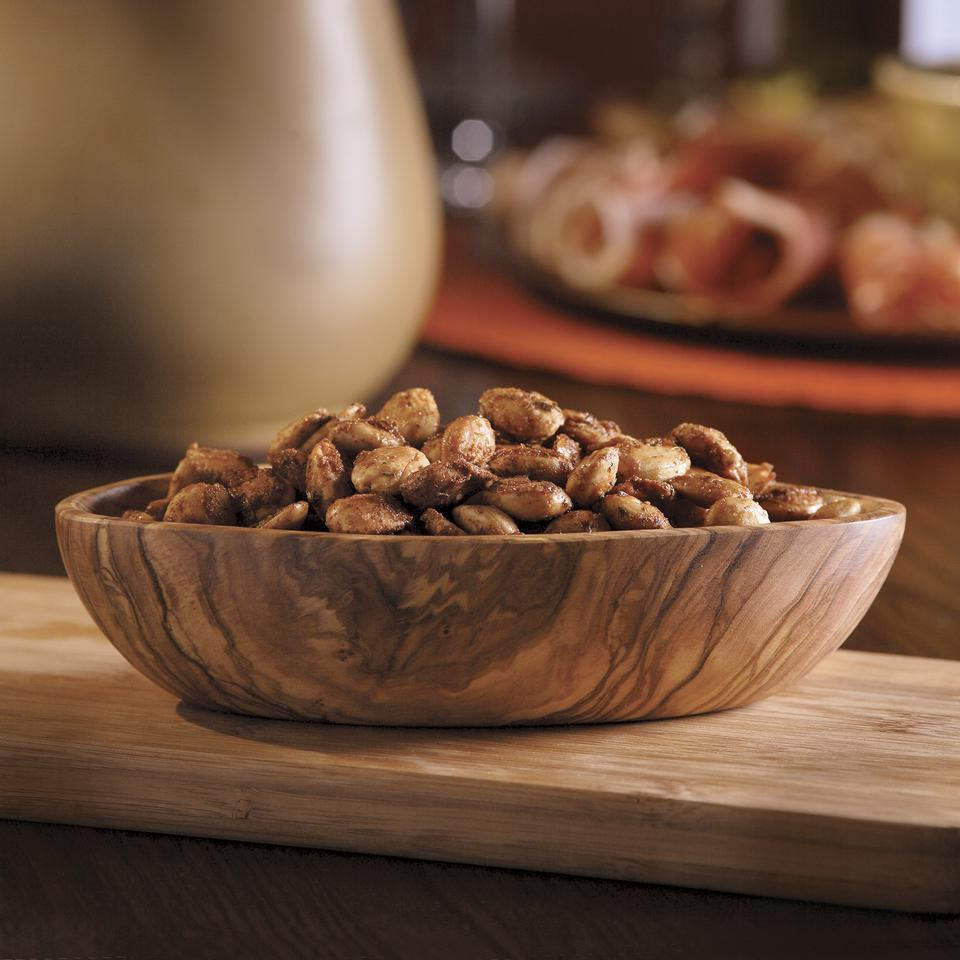 <p>Salty, sweet and laced with smoke--the perfect kind of almond for a party. If any remain the next day, savor them over a salad topped with sliced ripe pears and shaved Manchego cheese.</p>