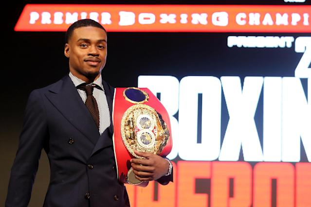 Errol Spence Jr. loves the idea of fighting Garcia, who would have to jump from 135- to 147-pound. (Getty Images)
