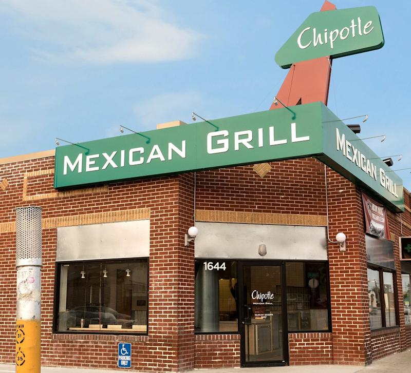 First Chipotle location