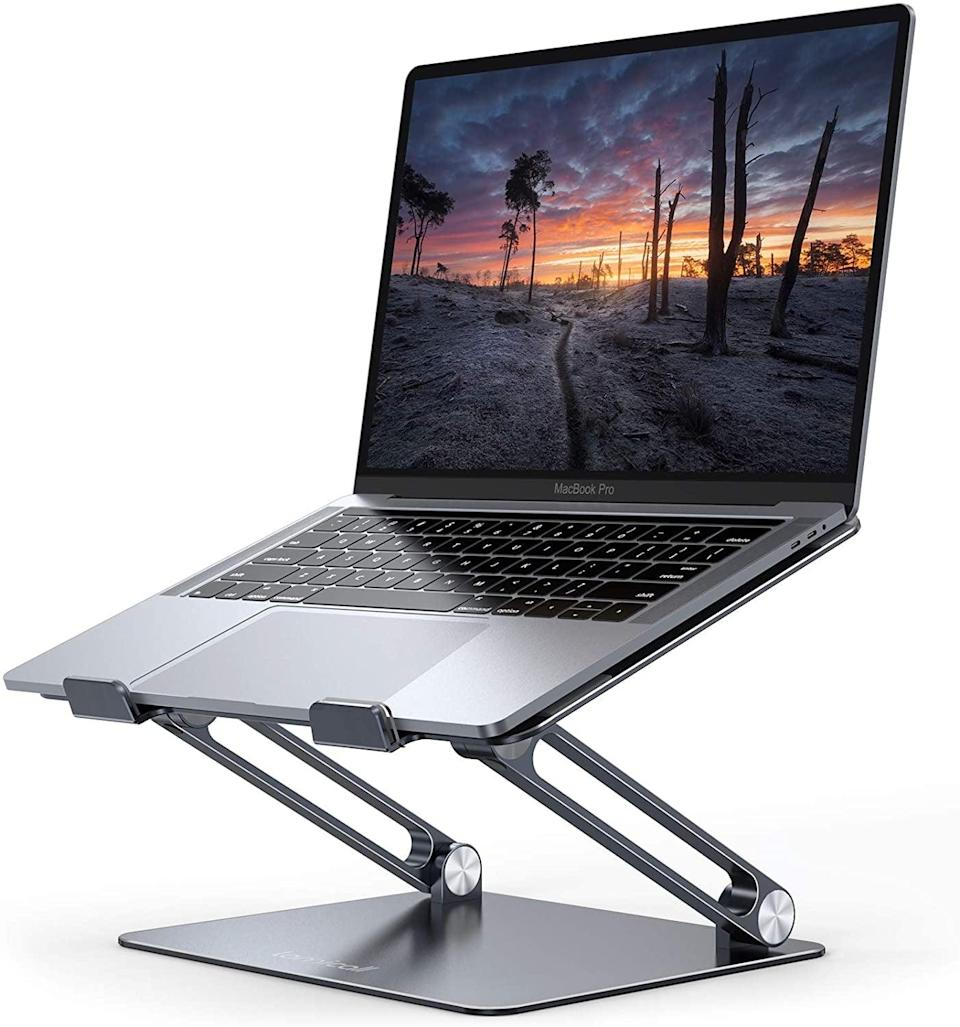 <p>Transform your workstation into a standing desk with this <span>Lamicall Height Adjustable Laptop Stand</span> ($28, originally $38).</p>