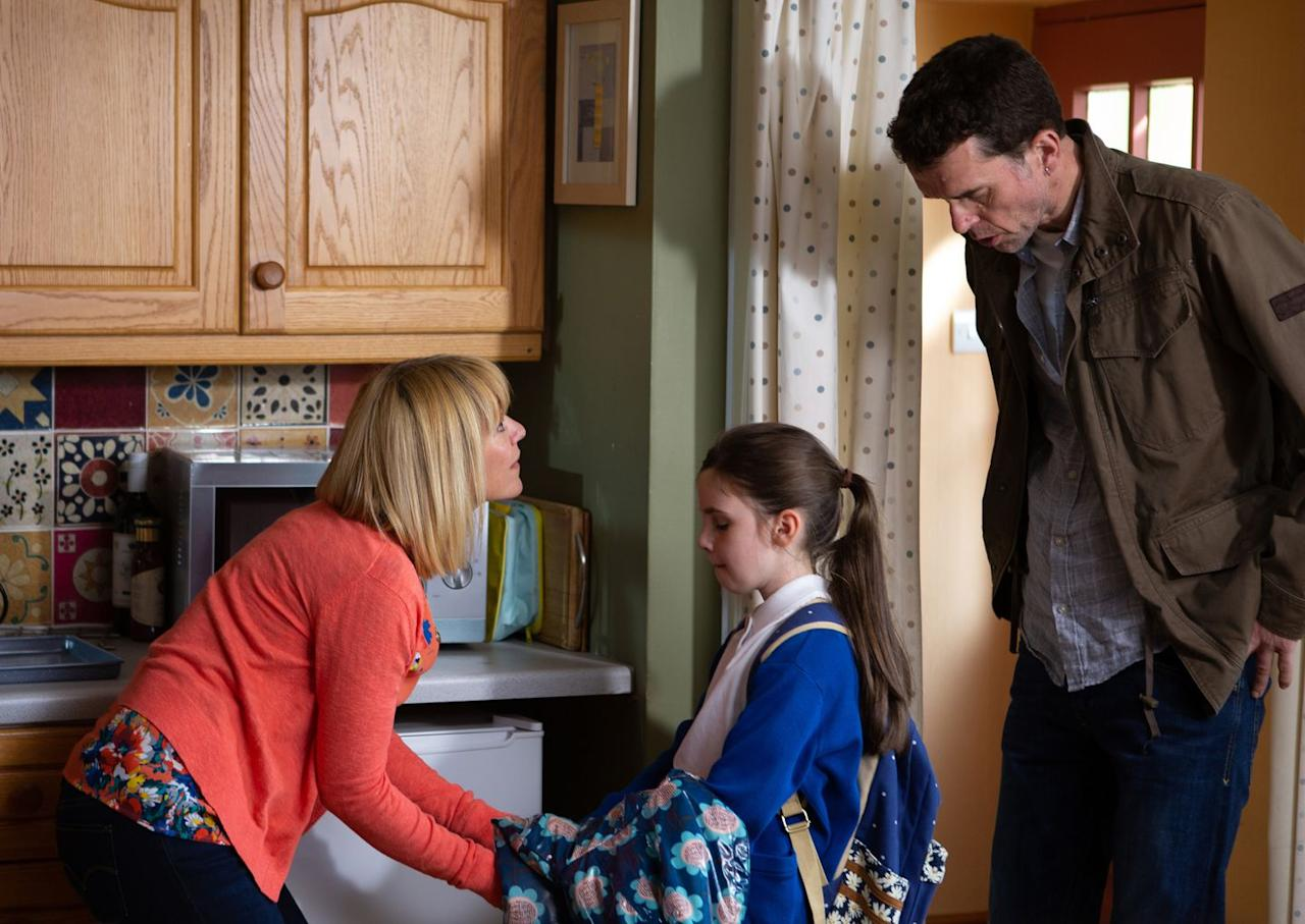 <p>She confirms Rhona and Marlon's worst fears.</p>