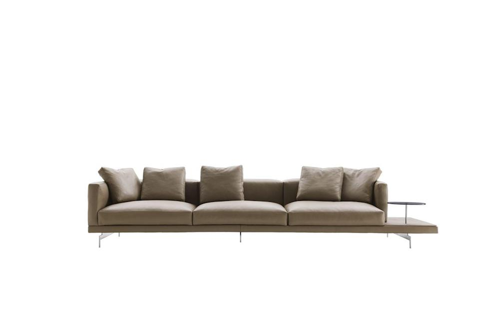 "<p>Described by B&B Italia as 'a safe haven in the home', this modular sofa by Piero Lissoni is incredibly versatile and offers a wealth of options to suit any room – corner sofa or chaise longue? Backrest or no backrest? Built-in side table? From £12,722, <a href=""https://www.bebitalia.com/en/sofa-dock-alto"" rel=""nofollow noopener"" target=""_blank"" data-ylk=""slk:bebitalia.com"" class=""link rapid-noclick-resp"">bebitalia.com</a></p>"