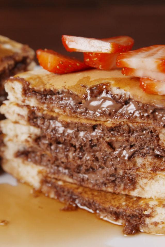 """<p>Morning=made.</p><p>Get the recipe from <a rel=""""nofollow"""" href=""""http://www.delish.com/cooking/recipe-ideas/recipes/a51216/nutella-stuffed-pancakes-recipe/"""">Delish</a>.</p>"""