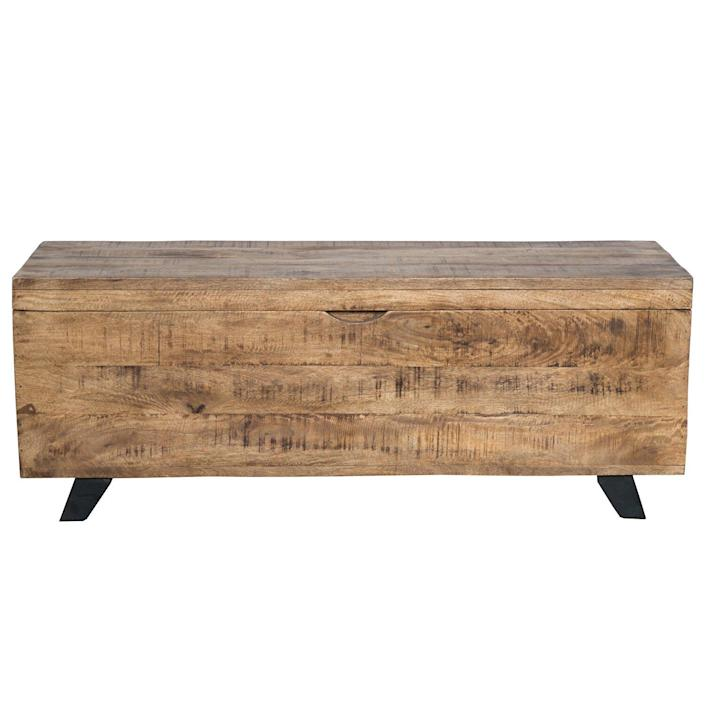 Kace Solid Wood Storage Lift-Top Coffee Table