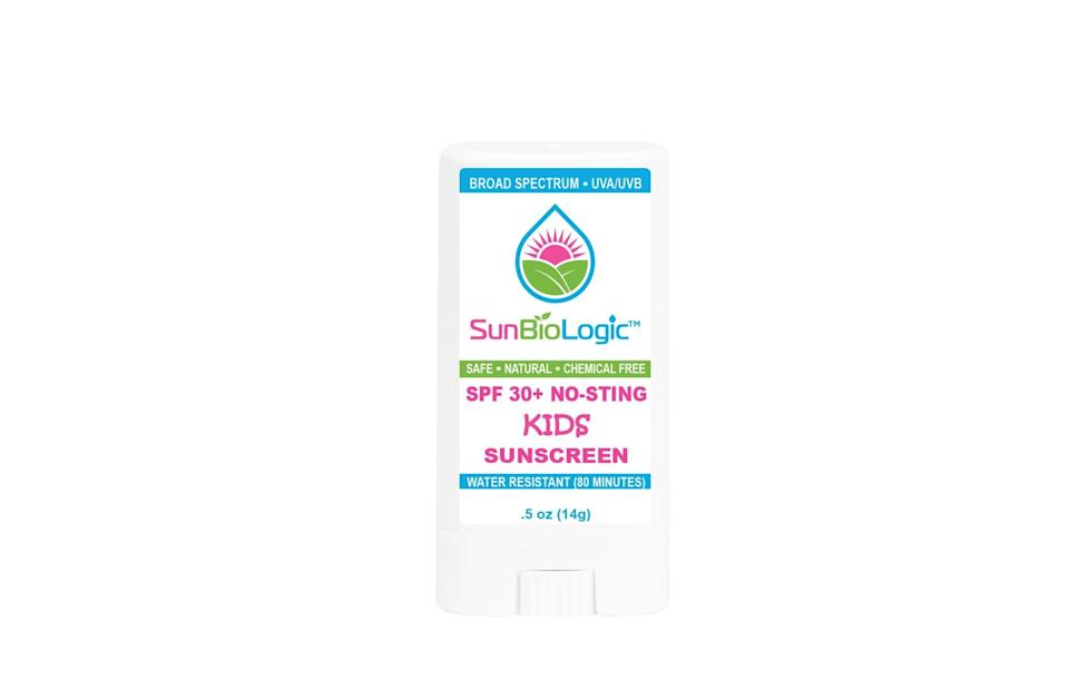 "<p>This <a href=""https://www.popsugar.com/buy/SunBioLogic-Kids-Sunscreen-Stick-SPF-30-575726?p_name=SunBioLogic%20Kids%20Sunscreen%20Stick%2C%20SPF%2030%2B&retailer=sunbiologic.com&pid=575726&price=15&evar1=moms%3Aus&evar9=17218020&evar98=https%3A%2F%2Fwww.popsugar.com%2Fphoto-gallery%2F17218020%2Fimage%2F47492716%2FSunBioLogic-Kids-Sunscreen-Stick-SPF-30&list1=sunscreen%2Csummer%2Cfamily%20travel%2Ckid%20shopping%2Chealth%20and%20wellness%2Cbaby%20shopping&prop13=api&pdata=1"" rel=""nofollow noopener"" class=""link rapid-noclick-resp"" target=""_blank"" data-ylk=""slk:SunBioLogic Kids Sunscreen Stick, SPF 30+"">SunBioLogic Kids Sunscreen Stick, SPF 30+</a> ($15, originally $18) also made the list this year for its ingredient list and UV protection.</p>"