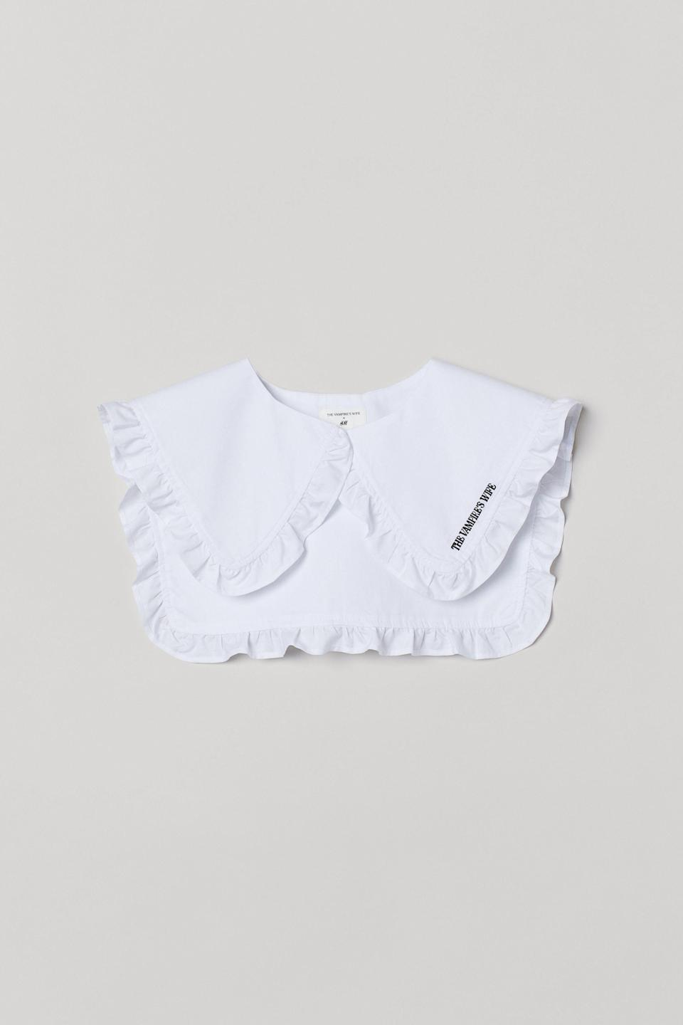 """<p><strong>H&M</strong></p><p>hm.com</p><p><strong>$12.99</strong></p><p><a href=""""https://go.redirectingat.com?id=74968X1596630&url=https%3A%2F%2Fwww2.hm.com%2Fen_us%2Fproductpage.0951755001.html&sref=https%3A%2F%2Fwww.townandcountrymag.com%2Fstyle%2Ffashion-trends%2Fg34431012%2Fthe-vampires-wife-hm-collaboration%2F"""" rel=""""nofollow noopener"""" target=""""_blank"""" data-ylk=""""slk:Shop Now"""" class=""""link rapid-noclick-resp"""">Shop Now</a></p>"""