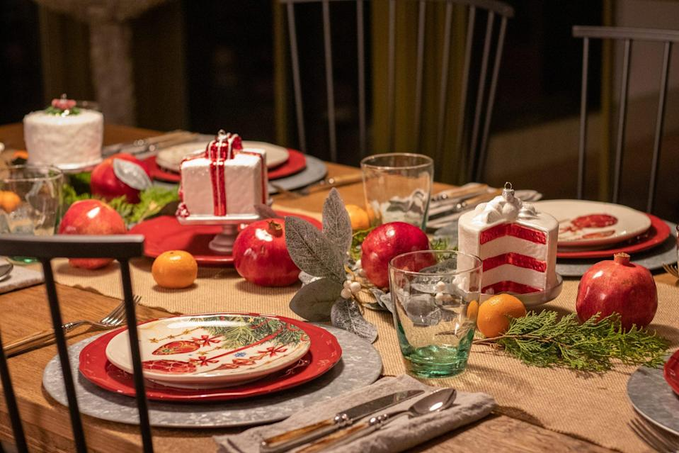 """<p>Set the table for Christmas dinner with tableware from the <a href=""""https://www.dillards.com/brand/Southern+Living/home-holiday-shop"""" rel=""""nofollow noopener"""" target=""""_blank"""" data-ylk=""""slk:Southern Living collection for Dillard's."""" class=""""link rapid-noclick-resp""""><em>Southern Living</em> collection for Dillard's. </a></p>"""