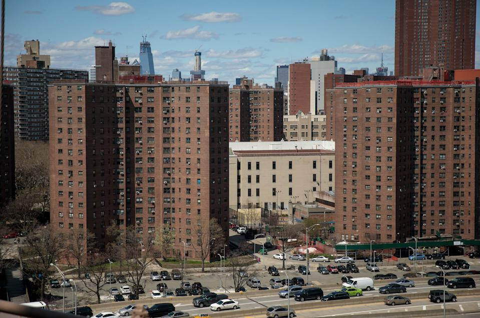The Alfred E. Smith Houses, a public housing development built and maintained by the New York City Housing Authority (NYCHA), stand in in the Lower East Side of Manhattan, April 26, 2018 in New York City. (Photo: Drew Angerer/Getty Images)