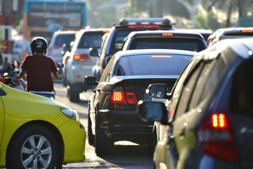 """<span class=""""caption"""">Road pricing could be introduced to reduce congestion.</span> <span class=""""attribution""""><span class=""""source"""">Shutterstock</span></span>"""