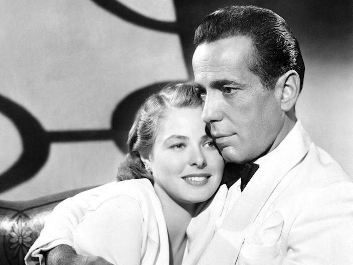ingrid Bergman and Humphrey Bogart casablanca