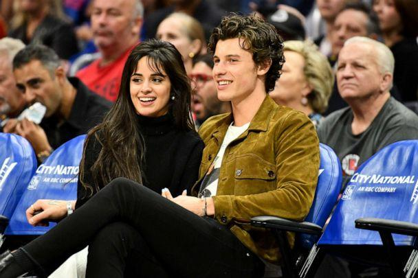 PHOTO: Camila Cabello and Shawn Mendes attend a basketball game between the Los Angeles Clippers and the Toronto Raptors at Staples Center in Los Angeles, Nov. 11, 2019. (Allen Berezovsky/Getty Images, FILE)