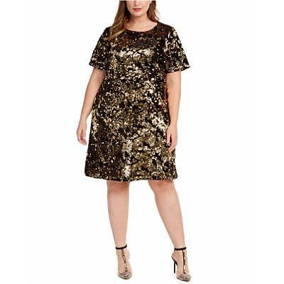 INC Plus Size Two-Tone Sequin Dress, Created For Macy's (Credit: Macy's)