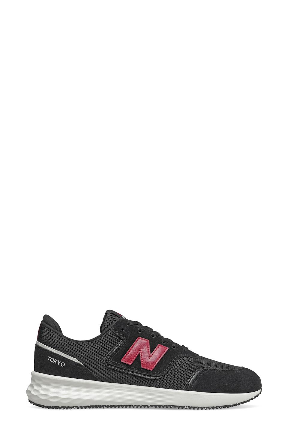"""<p><strong>NEW BALANCE</strong></p><p>nordstrom.com</p><p><a href=""""https://go.redirectingat.com?id=74968X1596630&url=https%3A%2F%2Fwww.nordstrom.com%2Fs%2Fnew-balance-fresh-foam-x-70-sneaker-men%2F5955974&sref=https%3A%2F%2Fwww.menshealth.com%2Fstyle%2Fg37081969%2Fnordstroms-anniversary-sale-best-sneakers%2F"""" rel=""""nofollow noopener"""" target=""""_blank"""" data-ylk=""""slk:BUY IT HERE"""" class=""""link rapid-noclick-resp"""">BUY IT HERE</a></p><p><del>$75</del><del><br></del><strong>$49.90</strong><strong><strong><br></strong></strong></p><p>Trust us, New Balance's Fresh Foam X-70 sneakers will have you feeling like you're walking (or running) on cloud nine. Not only is the Fresh Foam sole comfortable, but this style also has padding in the tongue and around the heel for good measure.<br></p>"""