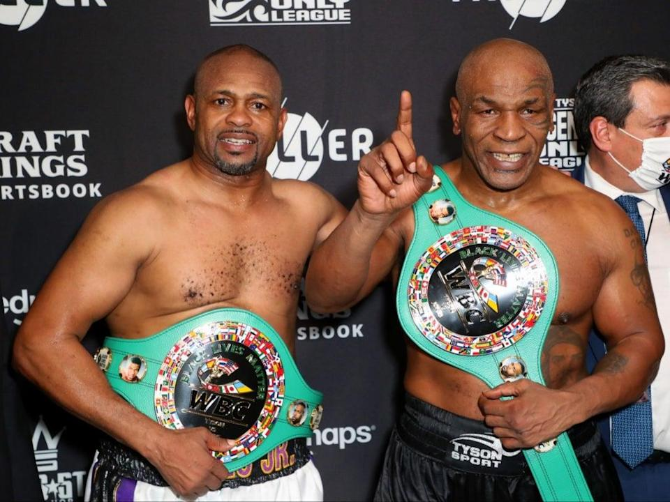 Mike Tyson and Roy Jones Jr (Getty Images for Triller)