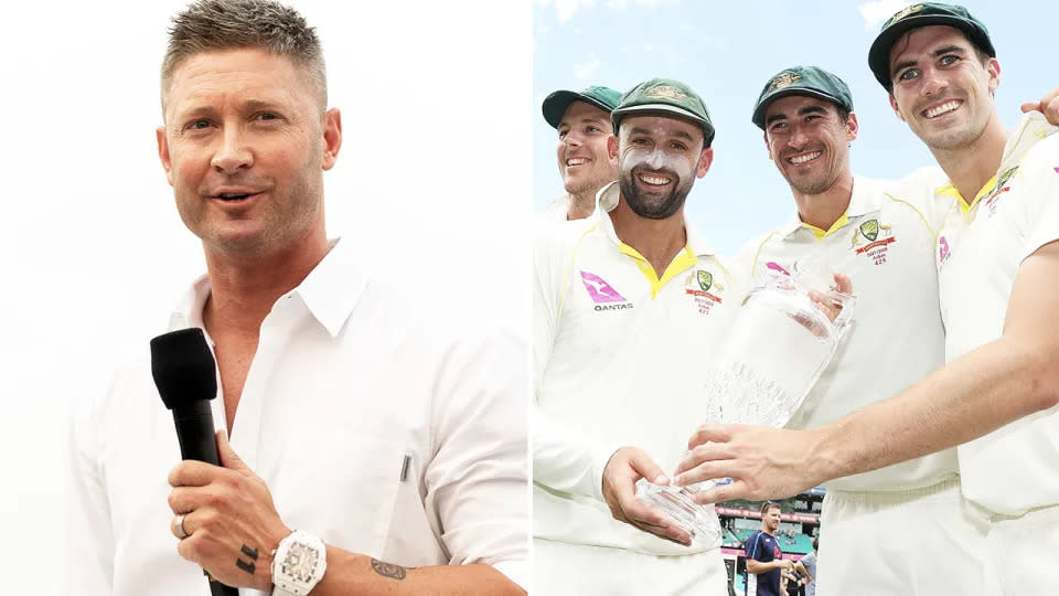 Seen here, Michael Clarke and Australia's current crop of Test bowlers.