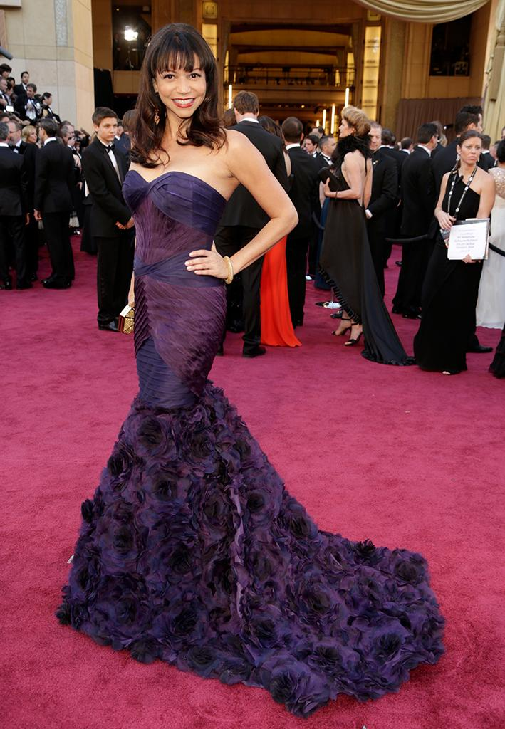 Gloria Reuben arrives at the Oscars in Hollywood, California, on February 24, 2013.