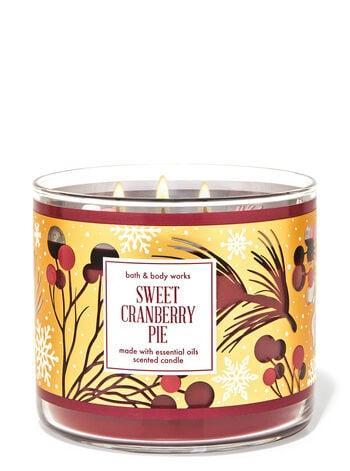 <p><span>Bath &amp; Body Works Sweet Cranberry Pie 3-Wick Candle</span> ($15, originally $25)</p>