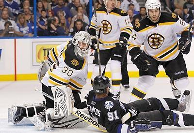 The Bruins' stifling defense stopped Steven Stamkos and the Lightning cold