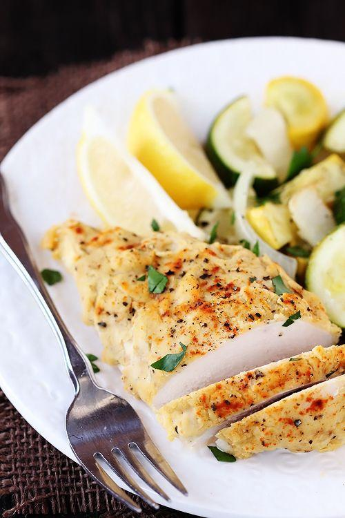 """<p>We all love hummus, but did you know you can crust chicken with it?</p><p><a href=""""http://www.gimmesomeoven.com/hummus-crusted-chicken/#_a5y_p=1169760"""" rel=""""nofollow noopener"""" target=""""_blank"""" data-ylk=""""slk:Get the recipe from Gimme Some Oven »"""" class=""""link rapid-noclick-resp""""><em>Get the recipe from Gimme Some Oven »</em></a><br></p>"""
