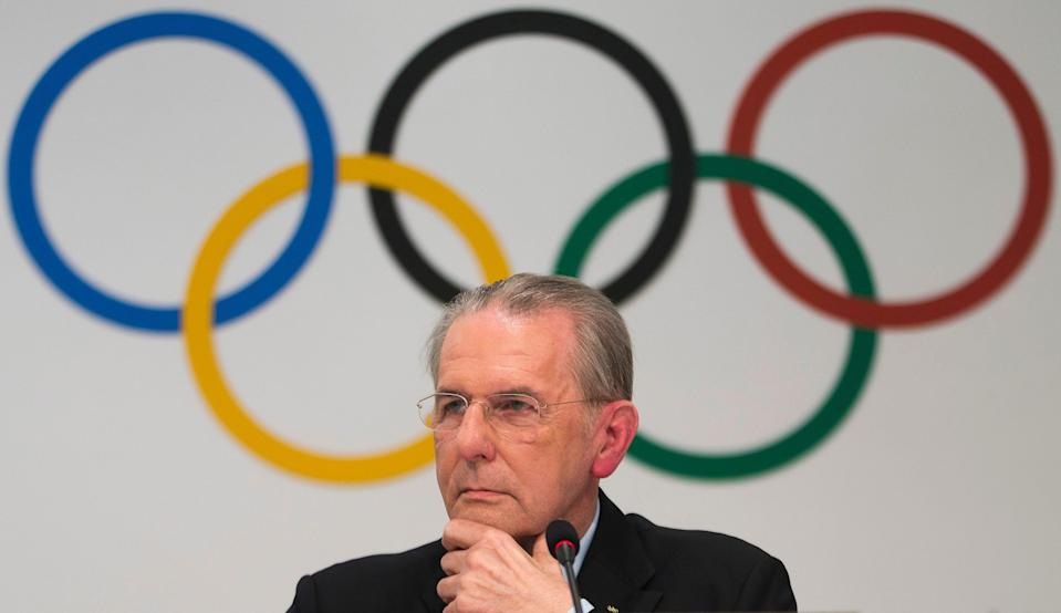 Jacques Rogge, president of the International Olympic Committee (IOC), listens to a reporters' question during a news conference in Buenos Aires, Argentina, Wednesday, Sept. 4, 2013.