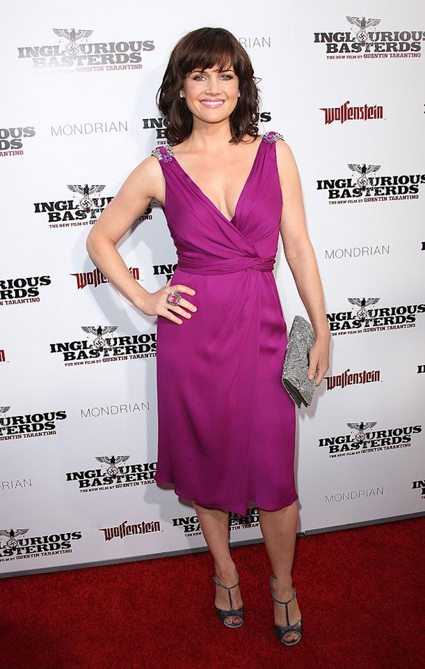 """<a href=""""http://movies.yahoo.com/movie/contributor/1800024683"""">Carla Gugino</a> at the Los Angeles premiere of <a href=""""http://movies.yahoo.com/movie/1808404206/info"""">Inglourious Basterds</a> - 08/10/2009"""