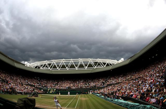 The rain pushed the match off twice. (Adam Davy/PA Images via Getty)