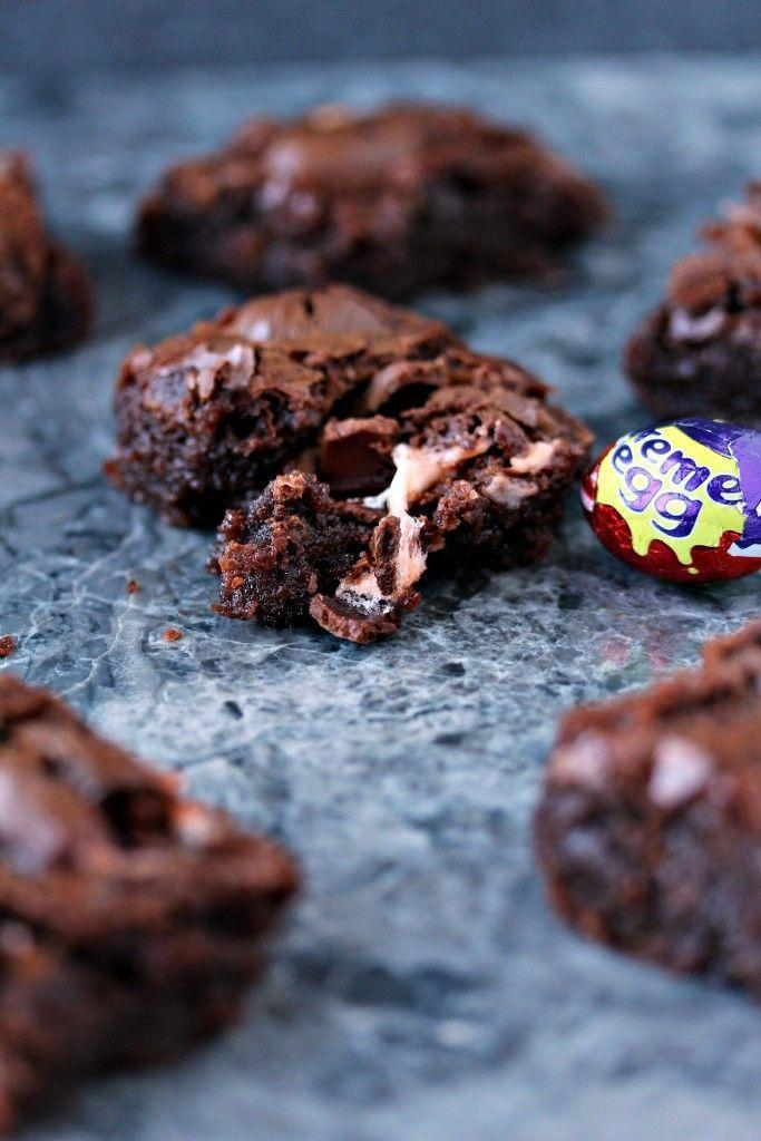 """<p>If you're a fan of brownies with gooey centers, just wait until you get a taste of the chocolatey, creamy filling. </p><p><a href=""""http://www.cravingsofalunatic.com/2015/04/creme-egg-brownies.html"""" rel=""""nofollow noopener"""" target=""""_blank"""" data-ylk=""""slk:Get the recipe from Cravings of a Lunatic »"""" class=""""link rapid-noclick-resp""""><em>Get the recipe from Cravings of a Lunatic »</em></a> </p>"""