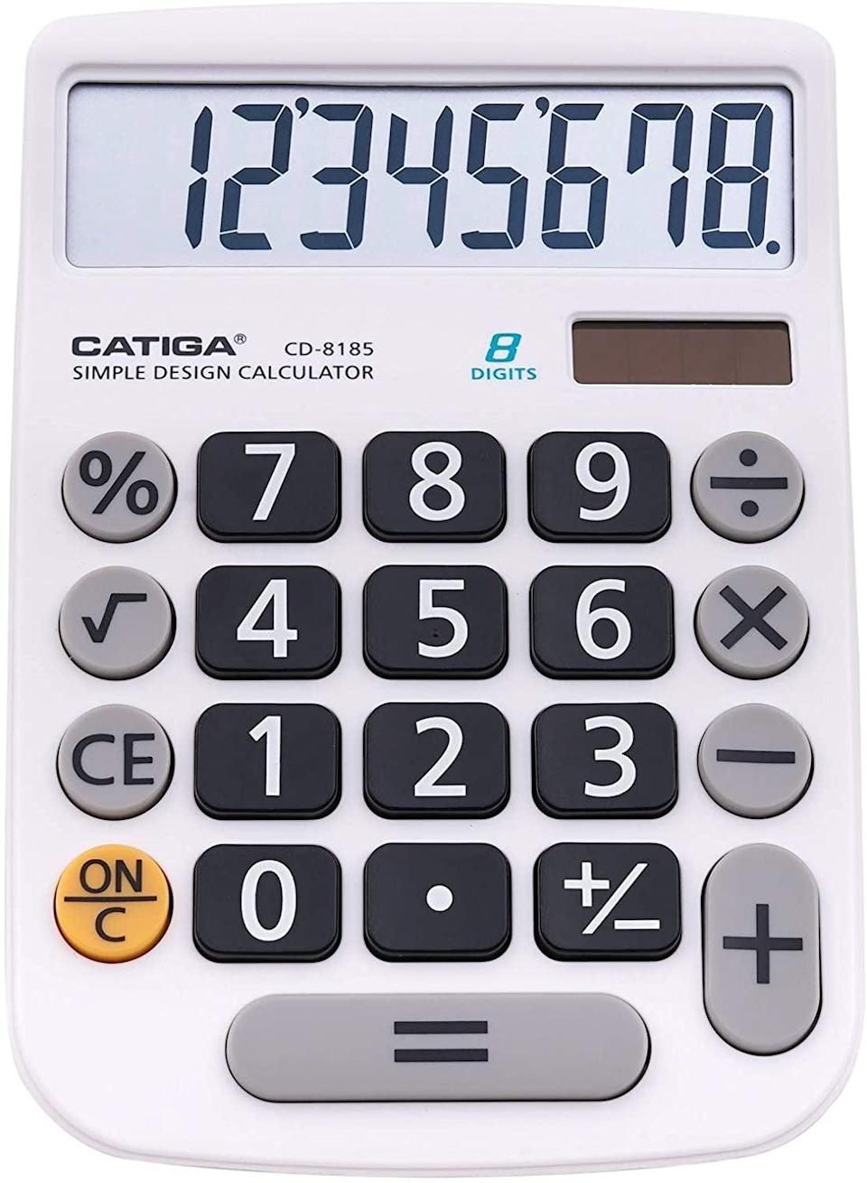 <p>The <span>CATIGA CD-8185 Office and Home Style Calculator</span> ($10, originally $13) is a great, reliable, solar powered everyday calculator. It is convenient, powerful, and long lasting.</p>