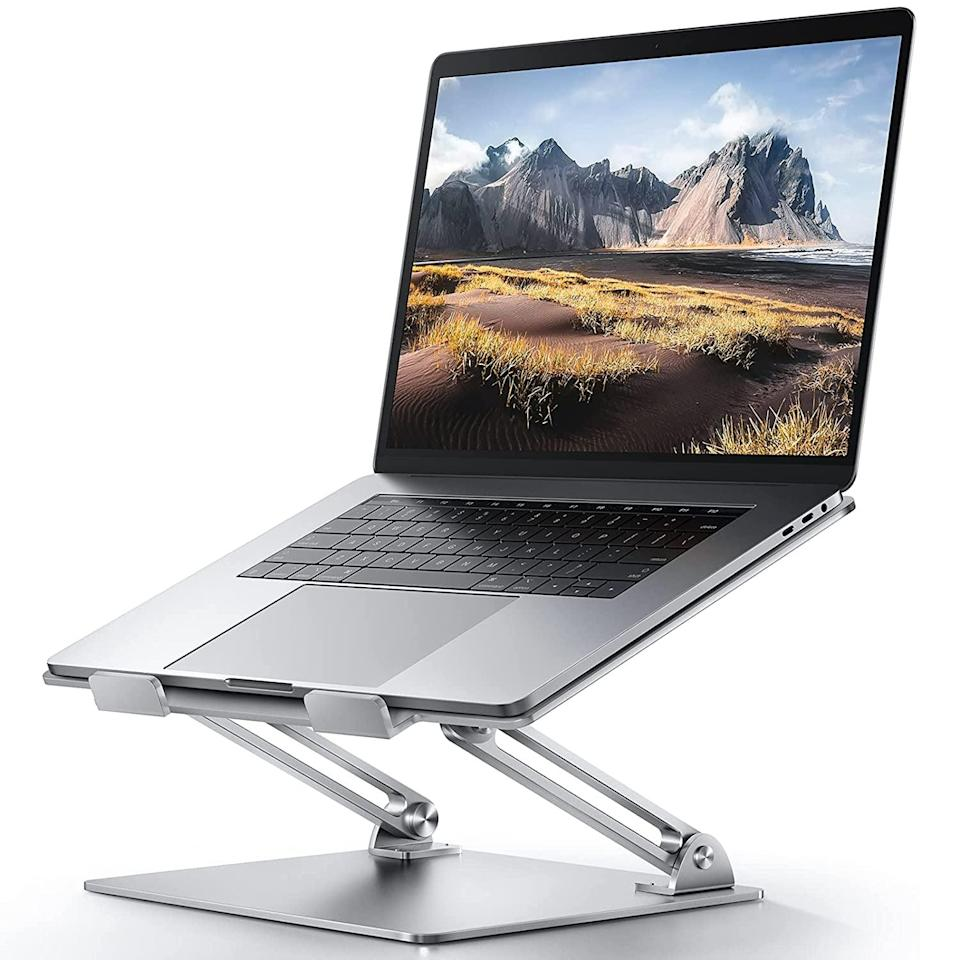 <p>If you're working from home, get this <span>Adjustable Laptop Stand</span> ($30) so you can work in the ideal position, whether you are sitting down or standing up. It has a heat vent as well to prevent overheating. </p>