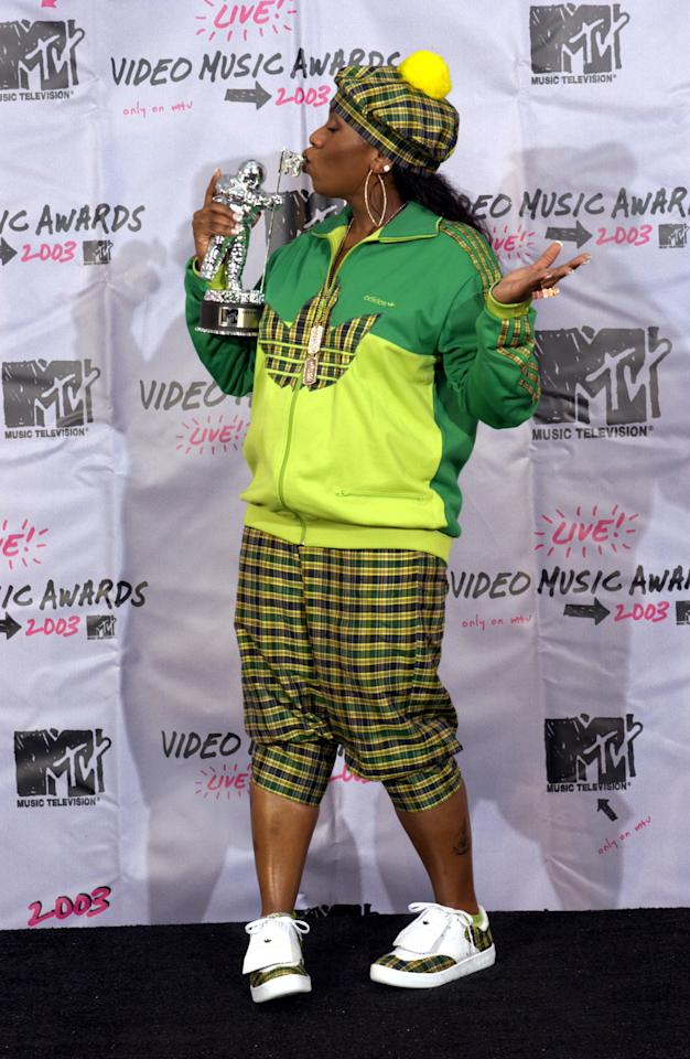 "The ""Get Ur Freak On"" singer looked ready to hit the links at the 2003 MTV Video Music Awards."