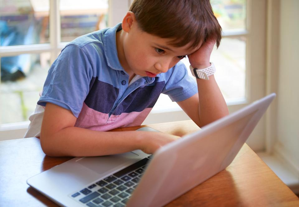 Giving your child a dedicated space for remote learning can help give them some much-needed structure. (Photo: Peter Dazeley via Getty Images)