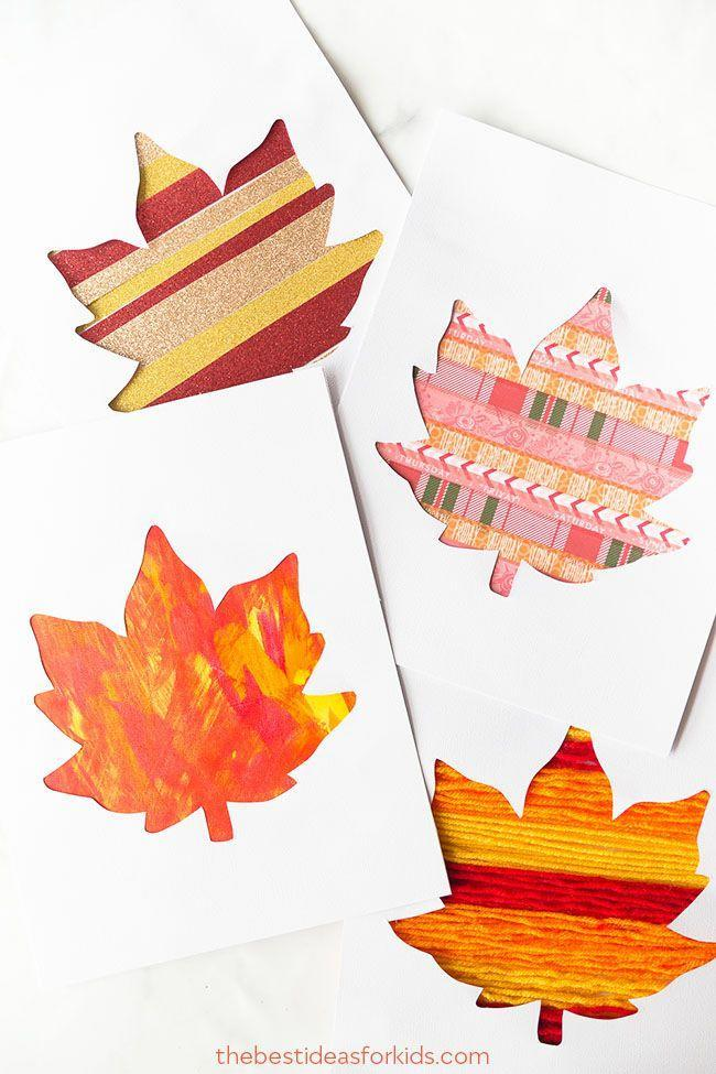 """<p>Paint, yarn, and washi tape are all the supplies you'll need to make these fun leaves, which look beautiful enough to be framed. Bonus: If you go for paint instead of tape, this craft's kid-friendly too.</p><p><strong>Get the tutorial at <a href=""""https://www.thebestideasforkids.com/leaf-silhouette-art/"""" rel=""""nofollow noopener"""" target=""""_blank"""" data-ylk=""""slk:The Best Ideas for Kids"""" class=""""link rapid-noclick-resp"""">The Best Ideas for Kids</a>.</strong> </p>"""