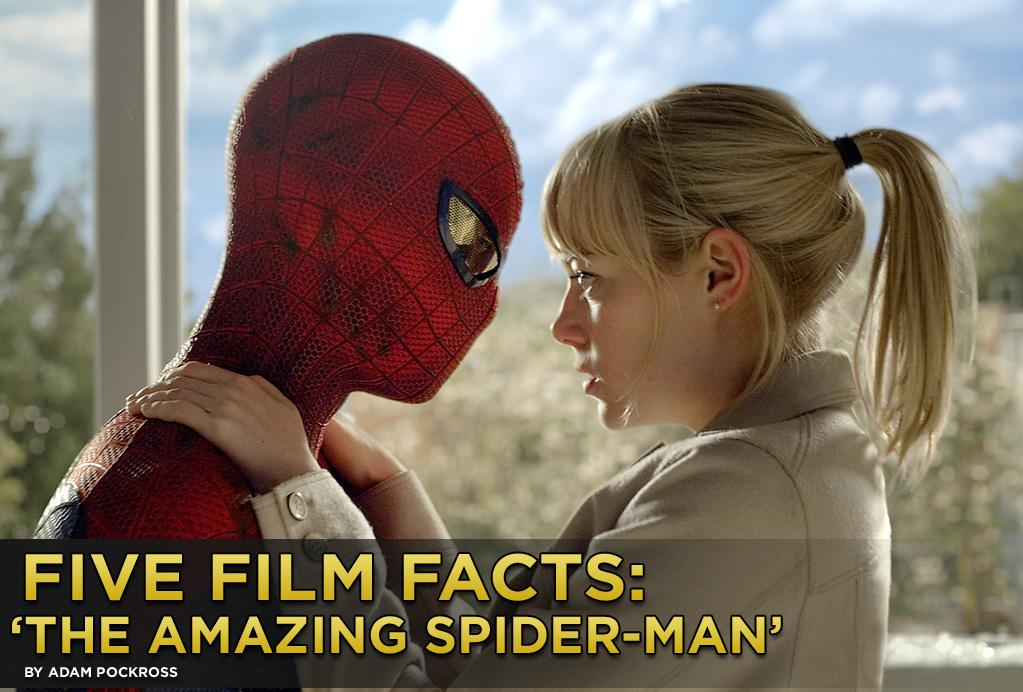 """A new man dons the iconic tights when """"<a href=""""http://movies.yahoo.com/movie/the-amazing-spiderman/"""">The Amazing Spider-Man</a>"""" hits theaters on Tuesday, July 3. Los Angeles born, London raised actor Andrew Garfield takes over the role of Peter Parker, the sarcastic, teenaged science wiz turned web slinger, better known as Spider-Man. We all know that """"The Amazing Spider-Man"""" does whatever a spider can, but here are five fun facts about the film you may not know."""