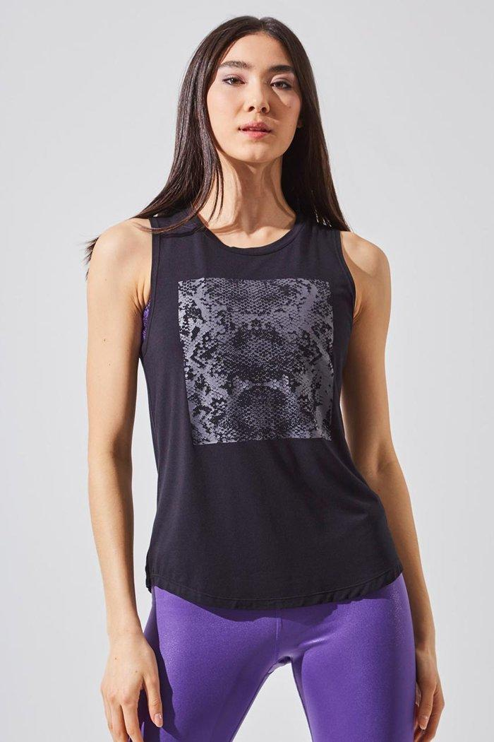 Enhance Tencel Modal Snake Print Tank (Photo via MPG)