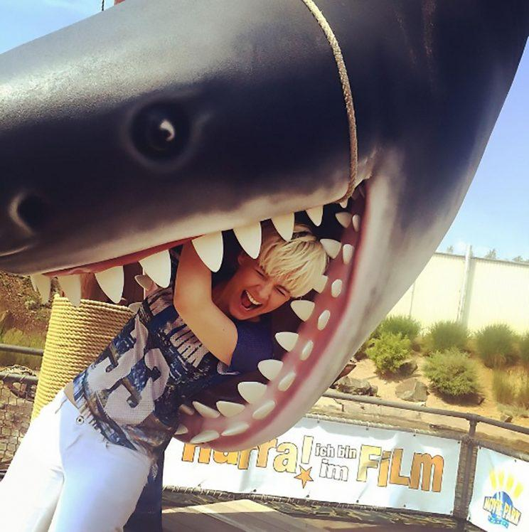 A shark did get her, but it was somewhat less scary (Picture: CEN)