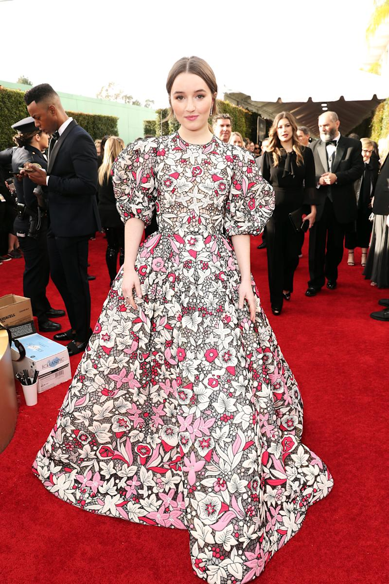 Kaitlyn Dever wears Valentino at the Golden Globes 2020