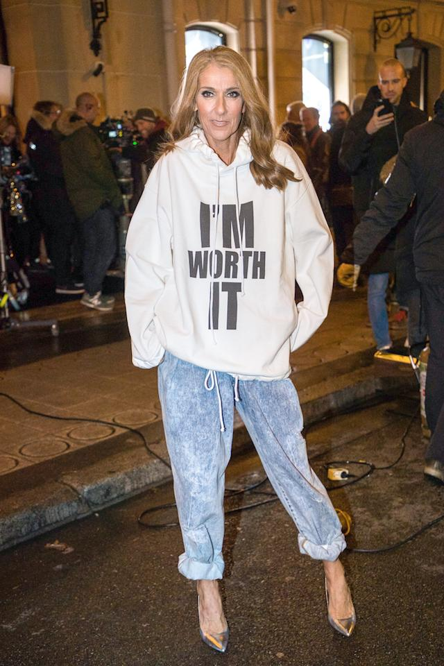 "For her photoshoot on behalf of 'L'Oreal Excellence' on January 30, the singer dressed accordingly in a hoodie emblazoned with the words: ""I'm worth it"". [Photo: Getty]"