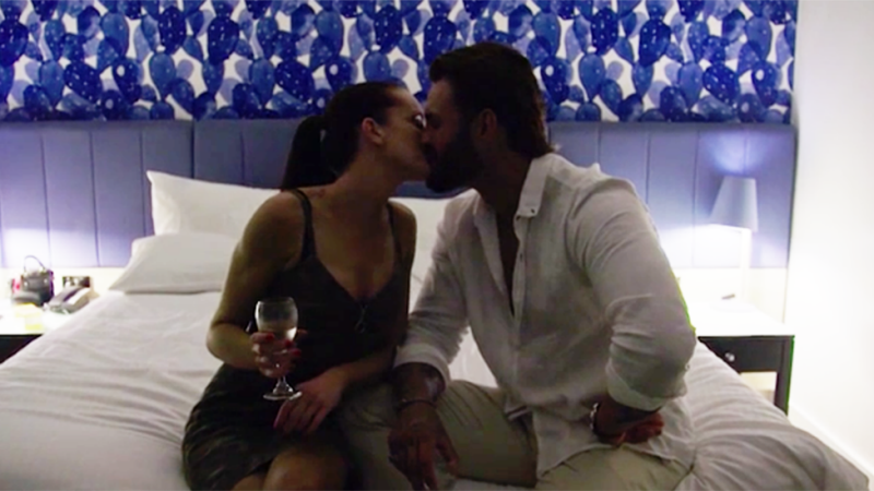 Ines and Sam had a steamy affair on the show, cheating on their respective partners, Bronson and Elizabeth. Photo: Channel Nine