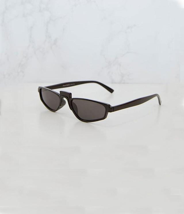 "<p>Retro sunglasses, $15, <a href=""https://www.prettylittlething.us/black-thin-retro-sunglasses.html?awc=7533_1518454053_32e2784146f5f6c591d9861339e56a02&utm_source=awin&utm_campaign=Skimlinks&utm_medium=affiliate"" rel=""nofollow noopener"" target=""_blank"" data-ylk=""slk:prettylittlething.us"" class=""link rapid-noclick-resp"">prettylittlething.us</a> </p>"