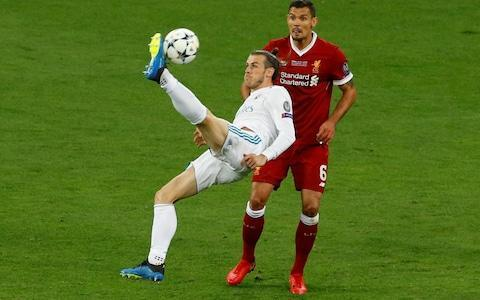 <span>Gareth Bale makes an immediate impact with a stunning overhead kick from 18 yards</span> <span>Credit: REUTERS/Phil Noble </span>