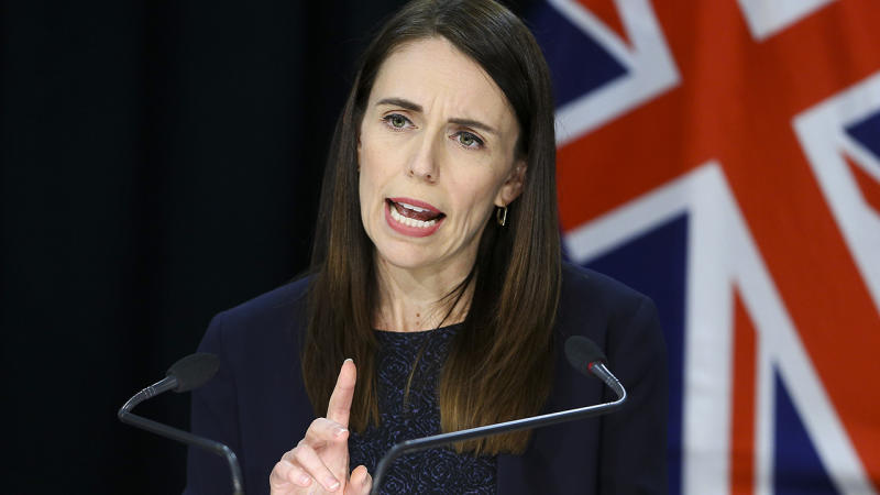 Jacinda Ardern, pictured here speaking during a post cabinet press conference in Wellington.