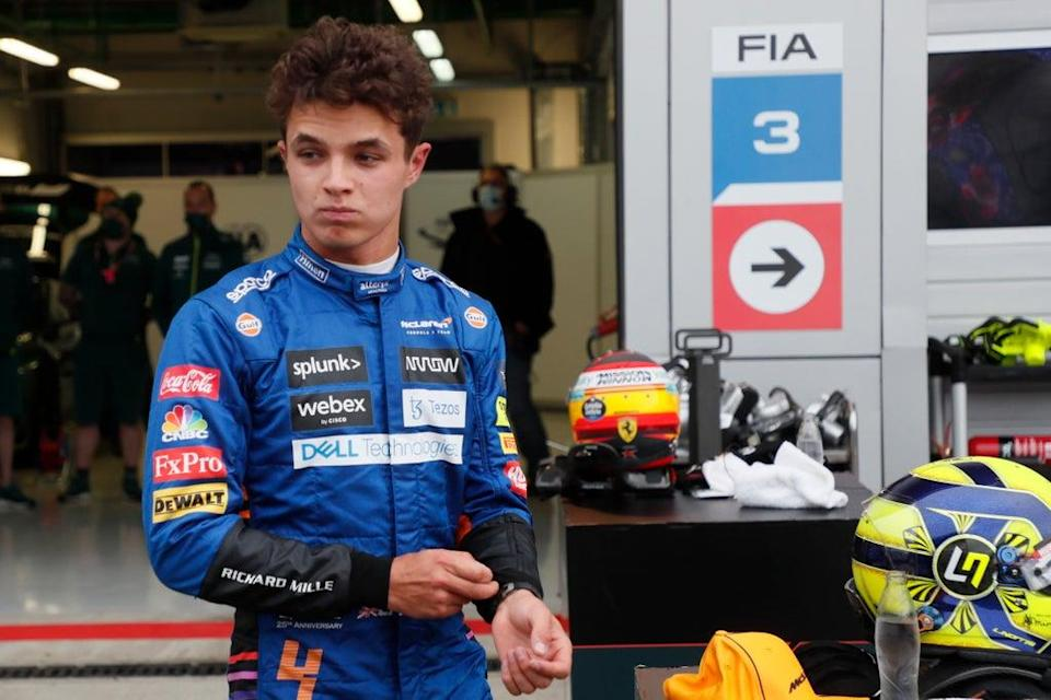 Lando Norris qualified on pole but failed to capitalise in Sochi (AP)
