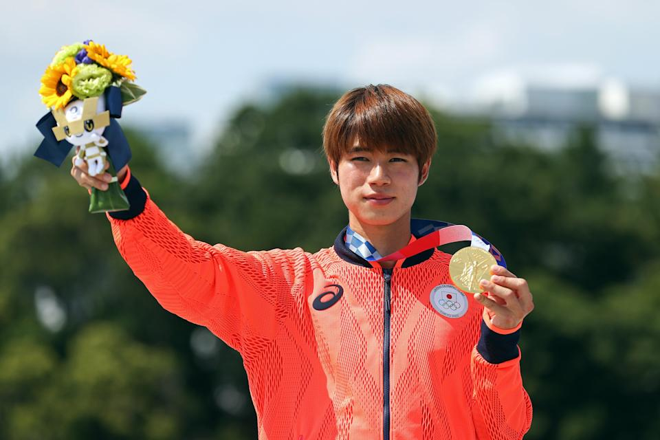 History maker | Tokyo native Yuto Horigome claimed the first ever Olympic men's gold for skateboarding (Getty Images)